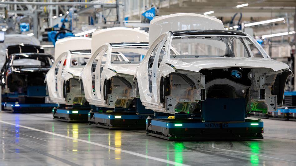 Mercedes-Produktion in Sindelfingen
