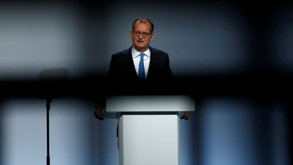 Commerzbanks Vorstandschef Martin Zielke während der Hauptversammlung der Bank Anfang Main in Frankfurt.