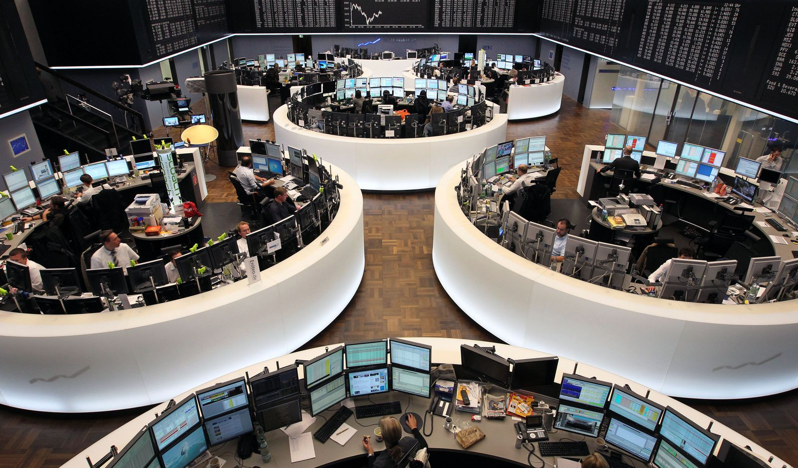Deutsche Börse in Frankfurt / Dax / Handel / Parkett