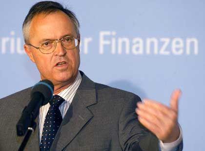 Finanzminister Hans Eichel: Persönlich verärgert über Schuldenpolitik