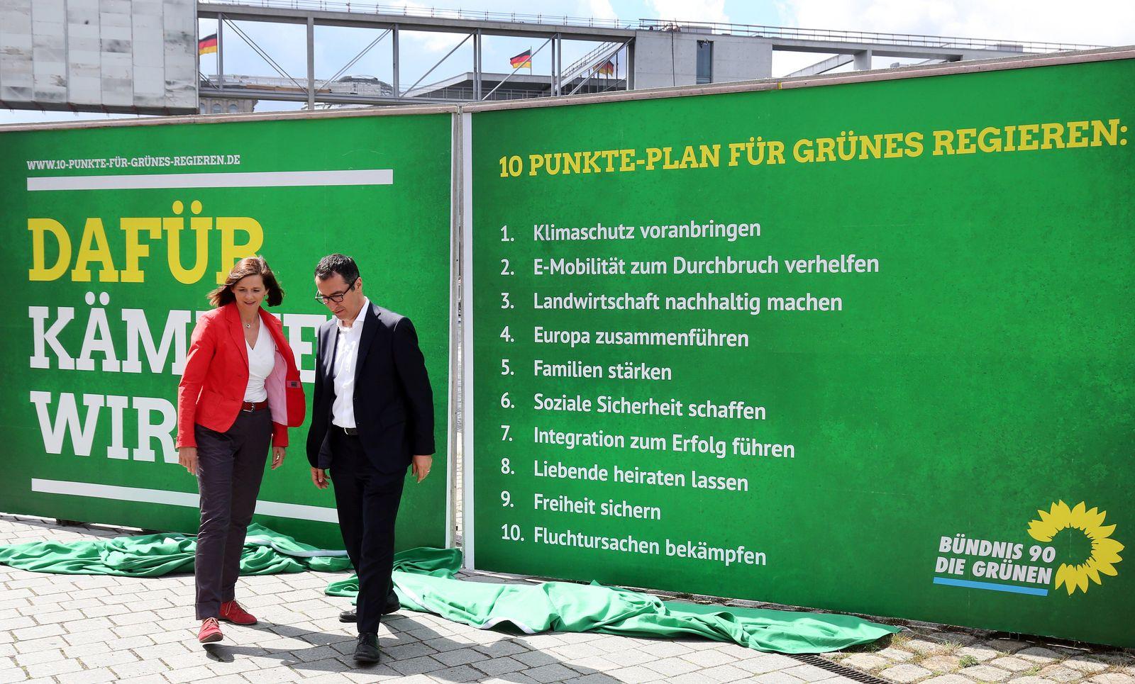 Grünen-Spitzenkandidaten zur Bundestagswahl