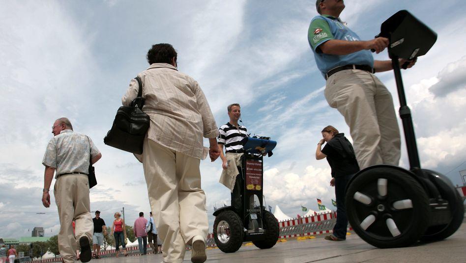 Segway-Fahrer in Hamburg: Vor allem von Touristen wurde das Gefährt genutzt