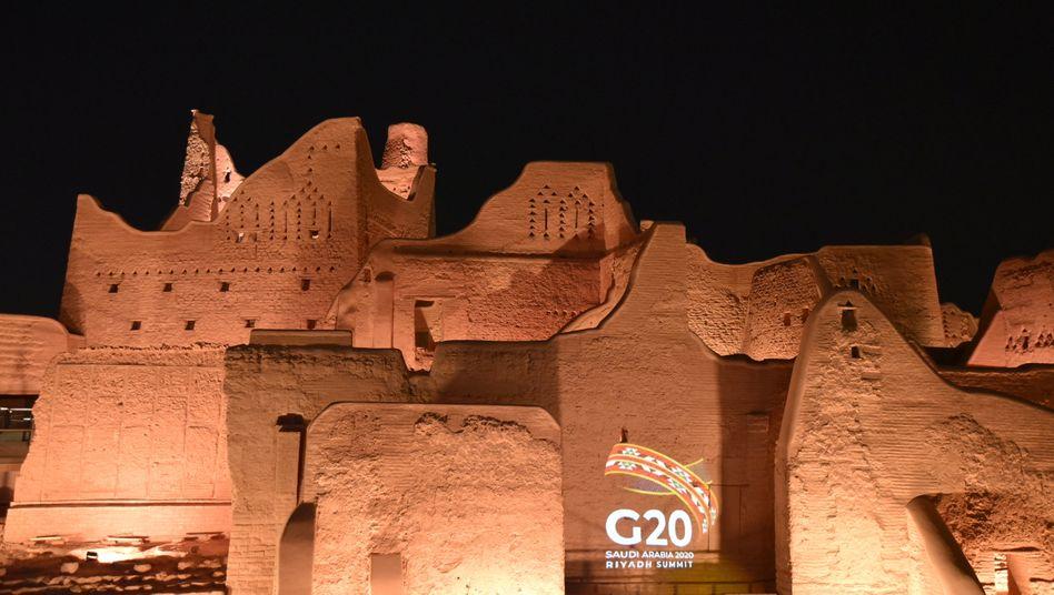 Nur noch eine virtuelle Show: Eigentlich sollte der Gipfel ein Großereignis mit Tausenden Gästen in Riad werden