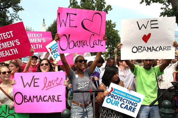 """""""Obamacare""""-Befürworter in Washington: Romney will die Reform zurückdrehen"""