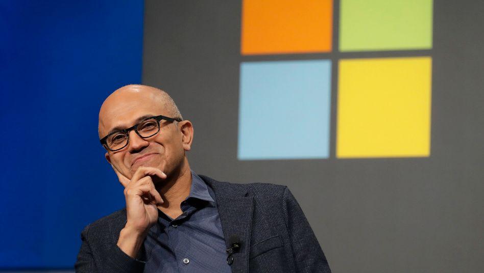 Microsoft-Chef Satya Nadella: Der Softwarekonzern hat bislang kein eigenes Social-Media-Geschäft und würde das Geschäft der Videoplattform von TikTok in den USA und anderen Staaten gern kaufen