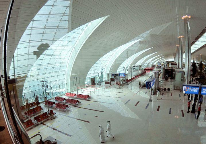 Emirates Terminal 3 im Dubai International Airport.