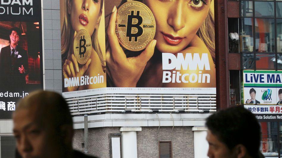 Bitcoin-Werbung in Japan, Tokio: Ein Käufer hat 20.000 Bitcoins gekauft