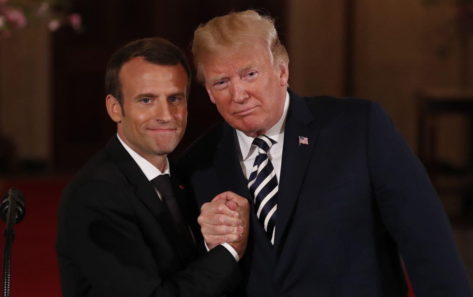 Emmanuel Macron Donald Trump