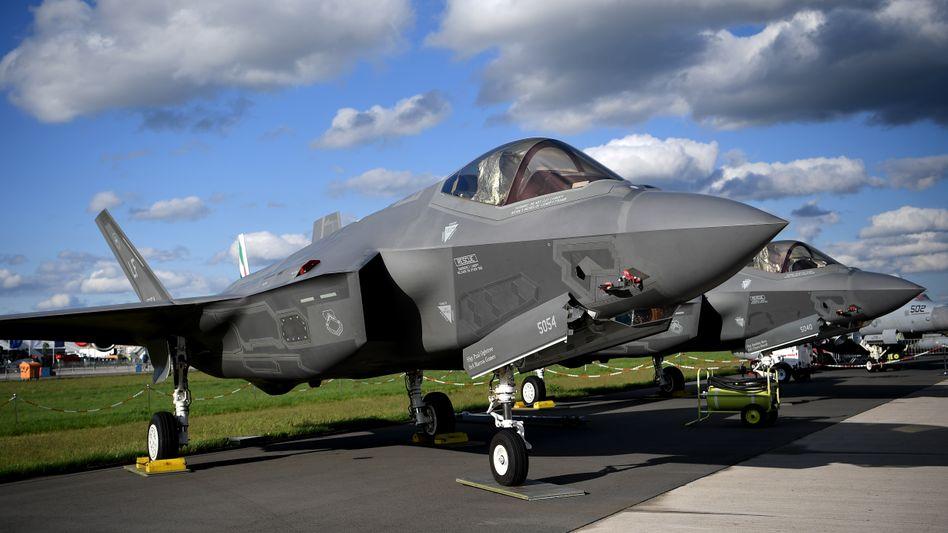 Radarsysteme von Hensoldt werden in unterschiedliche Kampfflugzeuge eingebaut: Auch in diesen US-Tarnkappenjet von Lockheed-Martin