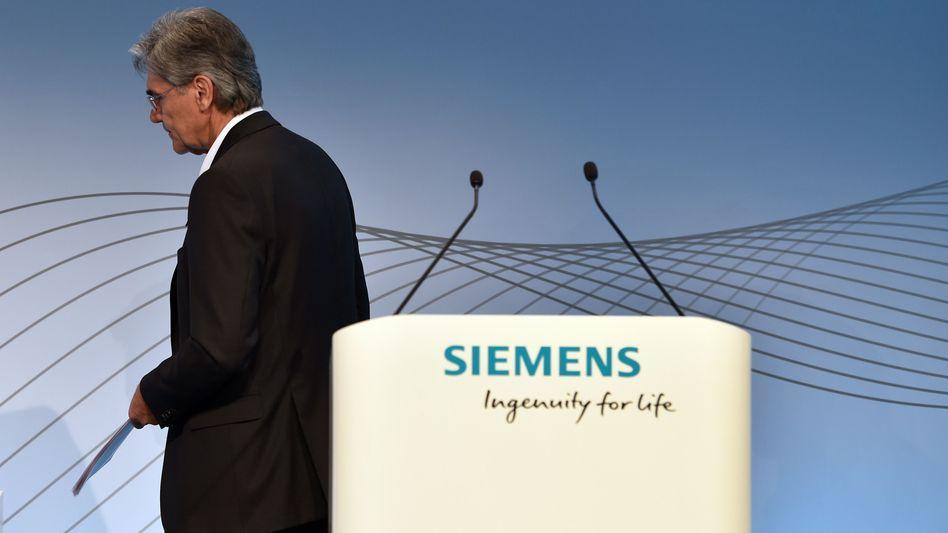 Siemens-Chef Joe Kaeser bei der Presse- und Analystenkonferenz am 2. August 2018