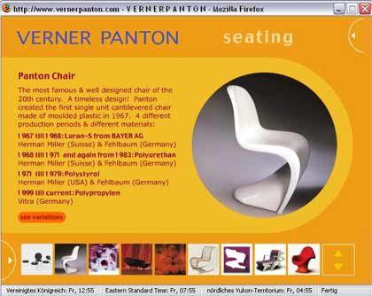 Ein Stuhl der Hoffnung: Zu Verner Panton ins Museum, per Internet - mehr dazu in Teil 4 dieses Artikels