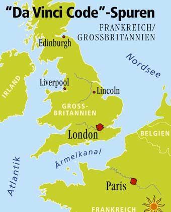 """Von Paris über London bis nach Schottland: Die Schauplätze des Buches und Films """"The Da Vinci Code"""" (""""Sakrileg"""") liegen weit voneinander entfernt."""
