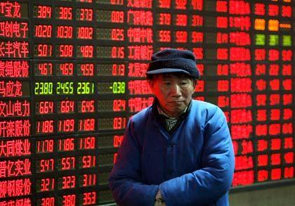 Kurssturz im Januar an der Börse in Shanghai: China beteiligt mit 30 Milliarden Euro am Krisenfonds