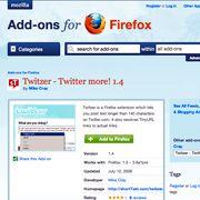 Twitter-Integration: Für Firefox gibt es mittlerweile Tausende von Add-Ons
