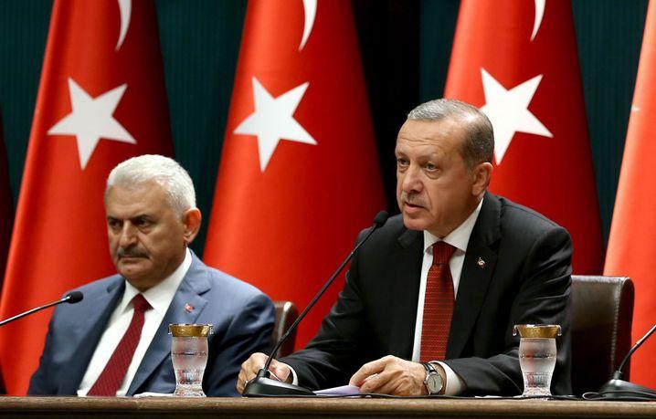 Greift hart durch: Der türkische Präsident Erdogan