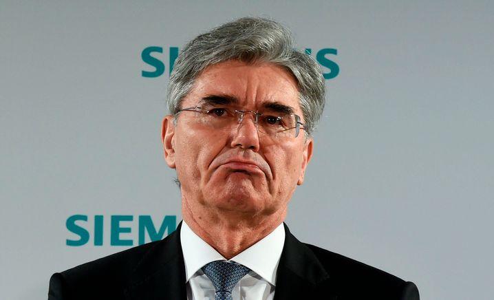 Feiert 40-jähriges Konzernjubiläum: Siemens-Chef Joe Kaeser vor der Hauptversammlung.