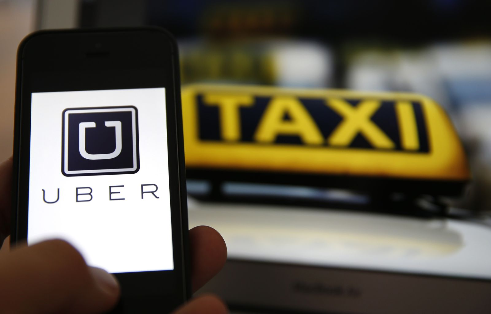 Uber Taxi Schilder App