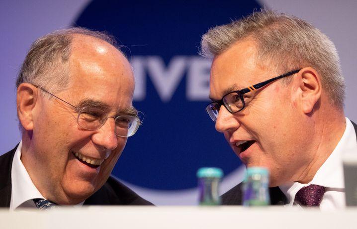Der Aufseher und sein Vorstandschef: Reinhard Pöllath und Stefan De Loecker.