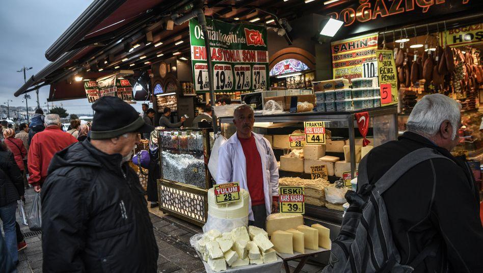 Die Inflation in der Türkei liegt weiterhin hoch