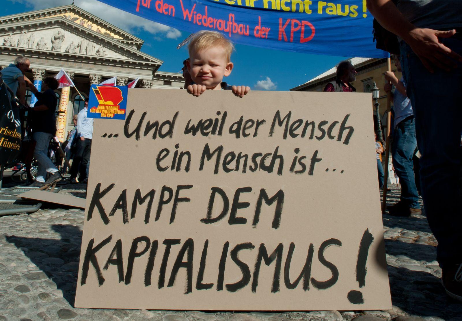 Demonstration gegen die bayerische Asylpolitik