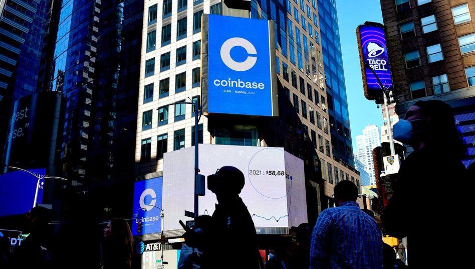 Profiteure des Hypes: Mitten im Bitcoin-Boom ging die Handelsplattform Coinbase an die Börse – und wird nun höher bewertet als etablierte Anbieter