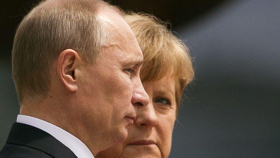Putin, Merkel: Kein Veto gegen deutsch-russische Milliardenprojekte