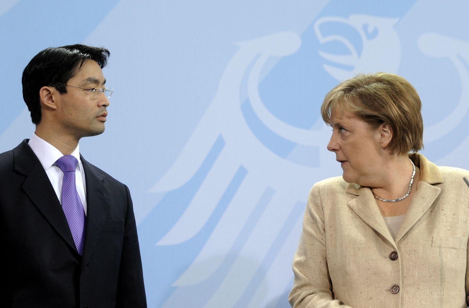 NICHT VERWENDEN Philipp Rösler / Angela Merkel