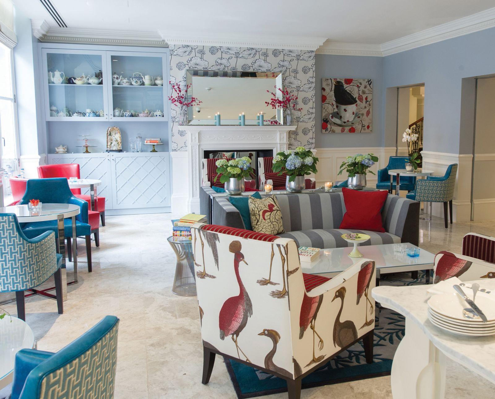 EINMALIGE VERWENDUNG The Ampersand Hotel, Drawingroom-Lobby