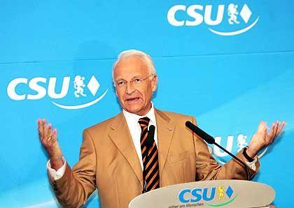 """Edmund Stoiber auf dem CSU-Parteitag: """"Es geht hier ganz eindeutig um die Sache"""""""