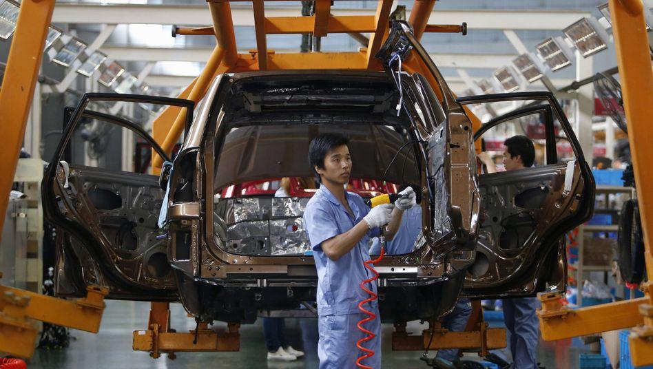Autoproduktion in China: Vor allem die Exporte in die südost-asiatischen Länder stiegen kräftig