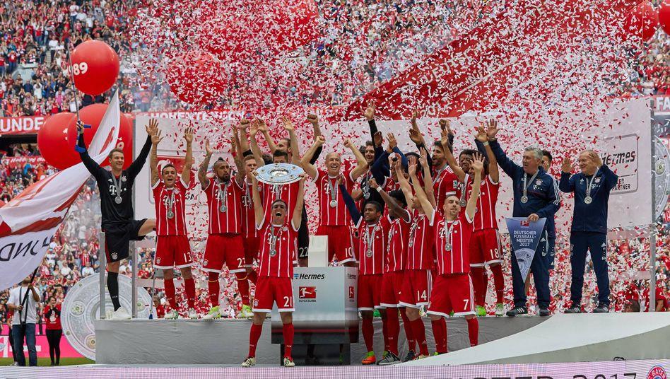Mia san reich: Meisterfeier des FCB