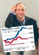 Anschluss gesucht: Amazon-Gründer Jeff Bezos steigerte die Anlaufverluste auf 390 Millionen Dollar.