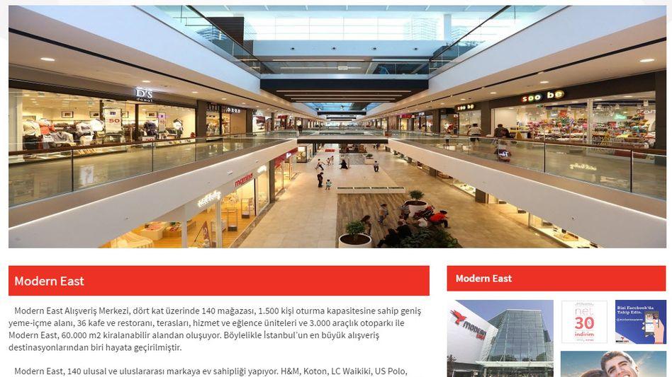 Modern East: Das von der Otto-Tochter ECE gemanagte Shoppingcenter ist offenbar beschlagnahemt worden