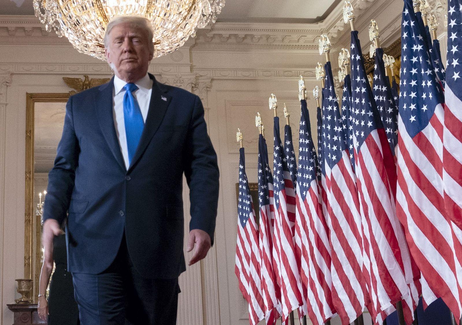 Trump speech on election night, Washington, USA - 04 Nov 2020