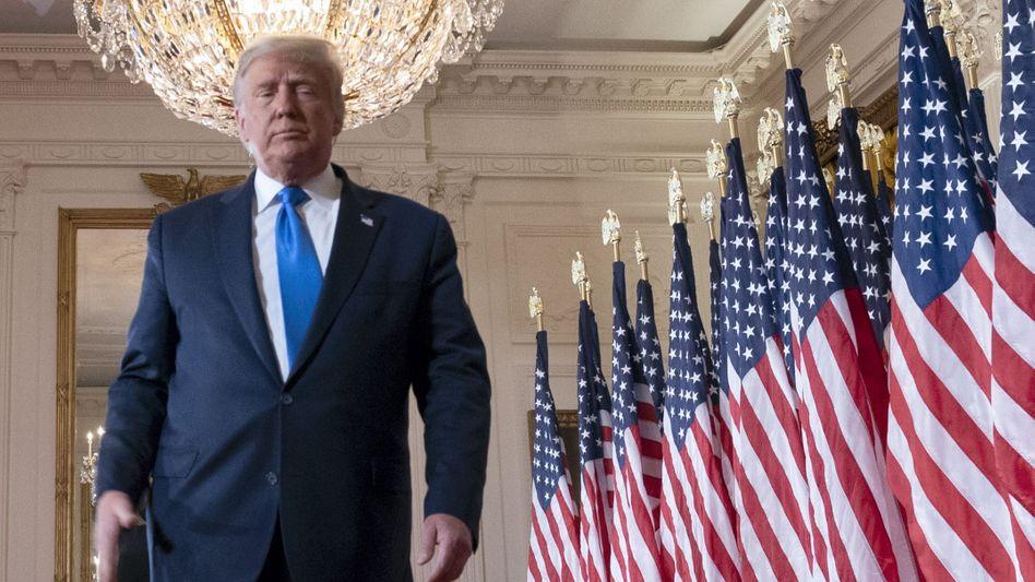 """""""Wir wollen, dass das Wählen endet"""": US-Präsident Donald Trump nach seinem Auftritt in der Wahlnacht in Washington"""