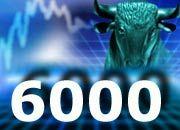 Hohe Kursgewinne: Frankfurts Börsenindex Dax nähert sich der 6000-Punkte-Marke