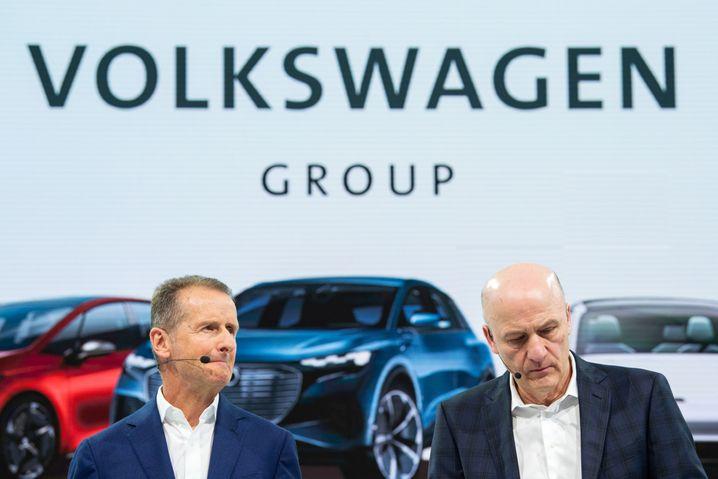 Überraschten mit hoher Dividende für 2019: CEO Herbert Diess und CFO Frank Witter.