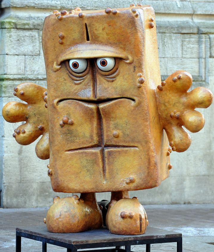 Immer gut gelaunt: Bernd das Brot, ein fröhlich-kantiger Charakter. Noch kantiger war nur Kant.
