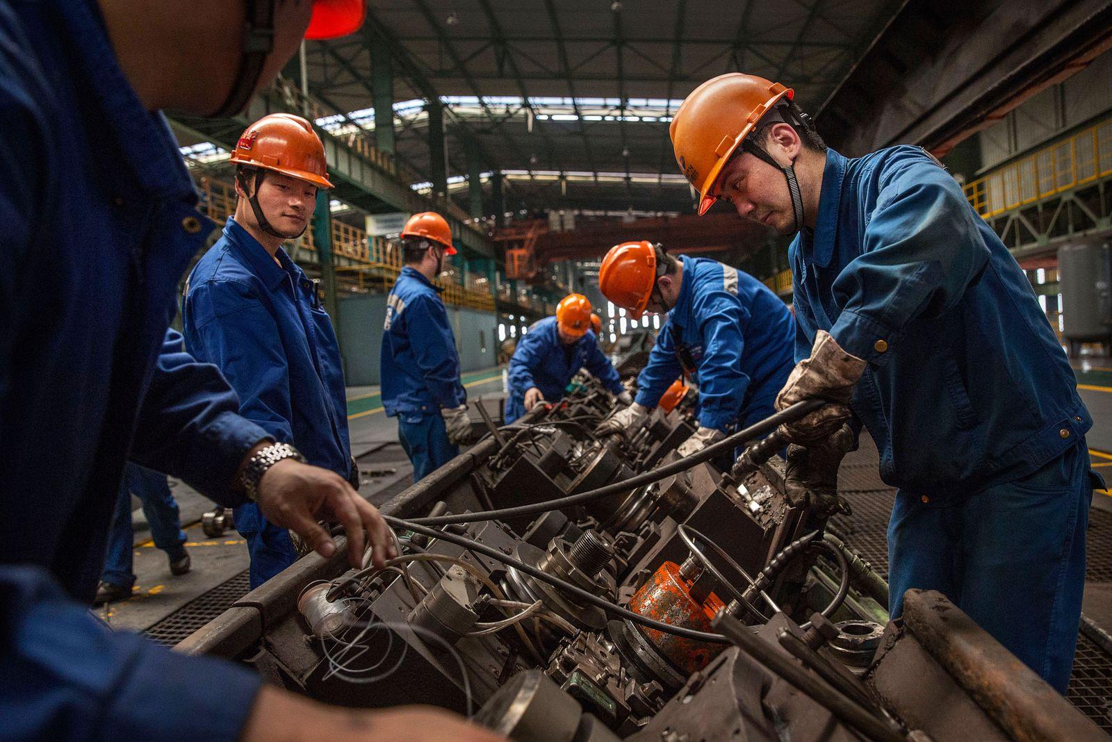 China Stahl / Stahl-Produktion / Industrie / Wirtschaft / Konjunktur