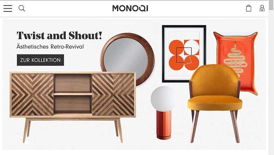 Die Webseite von Monoqi