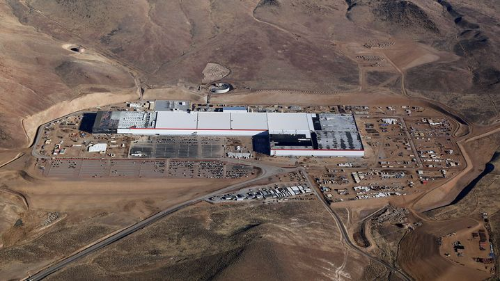 Teslas Gigafactory in Nevada (Januar 2017)