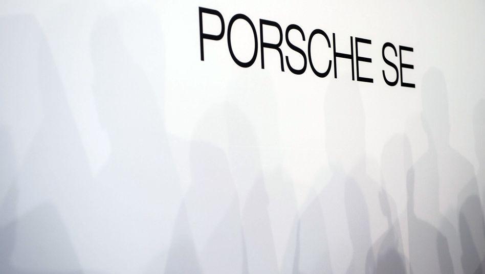 Schlichtes Logo: Der Volkswagen-Haupteigentümer Porsche SE muss auch nach dem Corona-Jahr 2020 nicht darben