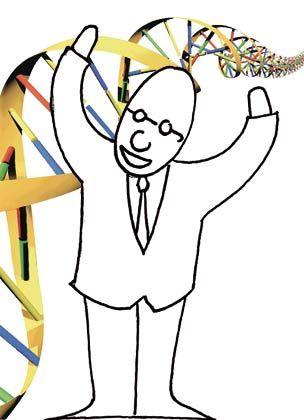DNS-Metapher: Aus vier Grundbausteinen könnten wie aus den vier Basen der DNS unzählige Formen von Unternehmen entstehen
