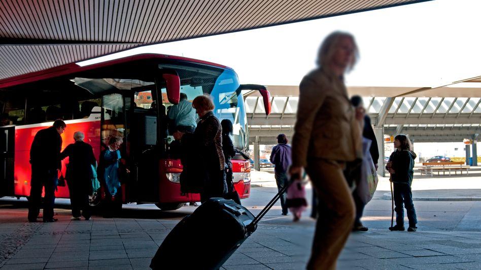 Seltenes Bild: In Deutschland sind Reisende nicht häufig per Bus unterwegs