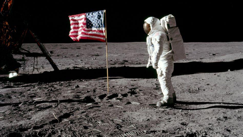 Astronaut Buzz Aldrin: Betrat am 21. Juli 1969 bei der Apollo-11-Mission - 20 Minuten nach Neil Armstrong - den Mond.