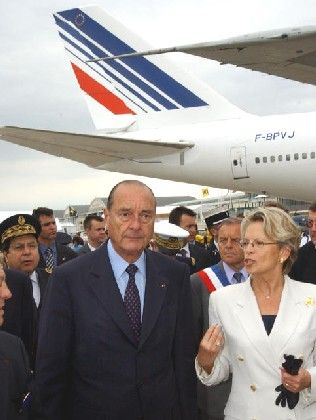 Entscheidung von nationalem Interesse: Jacques Chirac Paris Air Show in Le Bourget