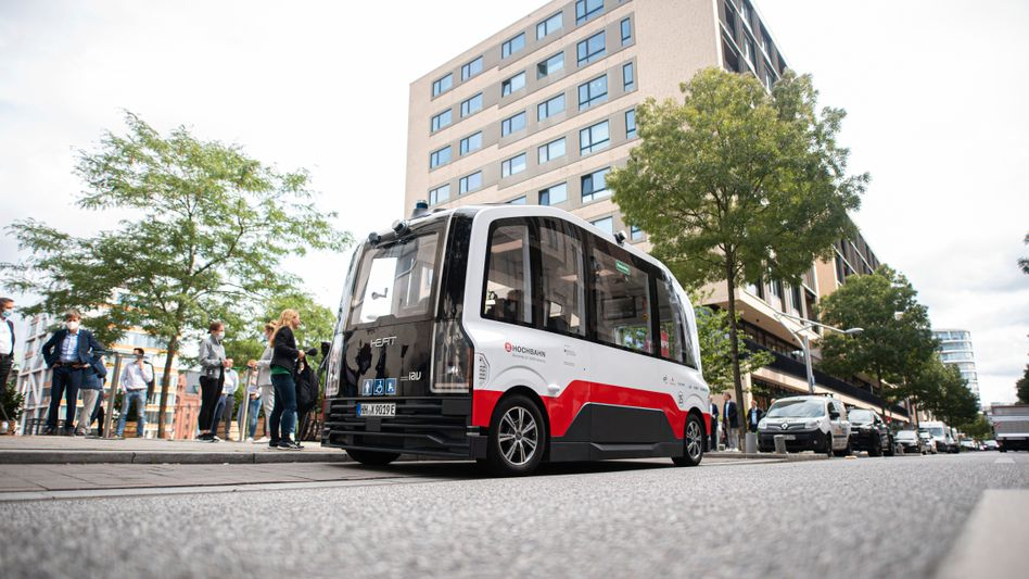 Automatisiert durch die Hamburger Hafencity: Zum ITS-Weltkongress ab dem 11. Oktober bekommt der HEAT-Shuttle seinen großen Auftritt