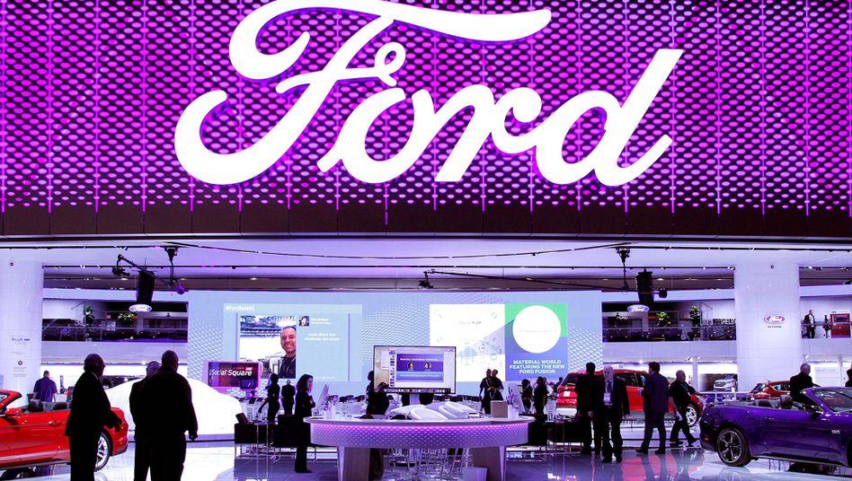 Ford auf der Autoshow in Detroit: Der US-Autobauer fährt derzeit hohe Verluste ein