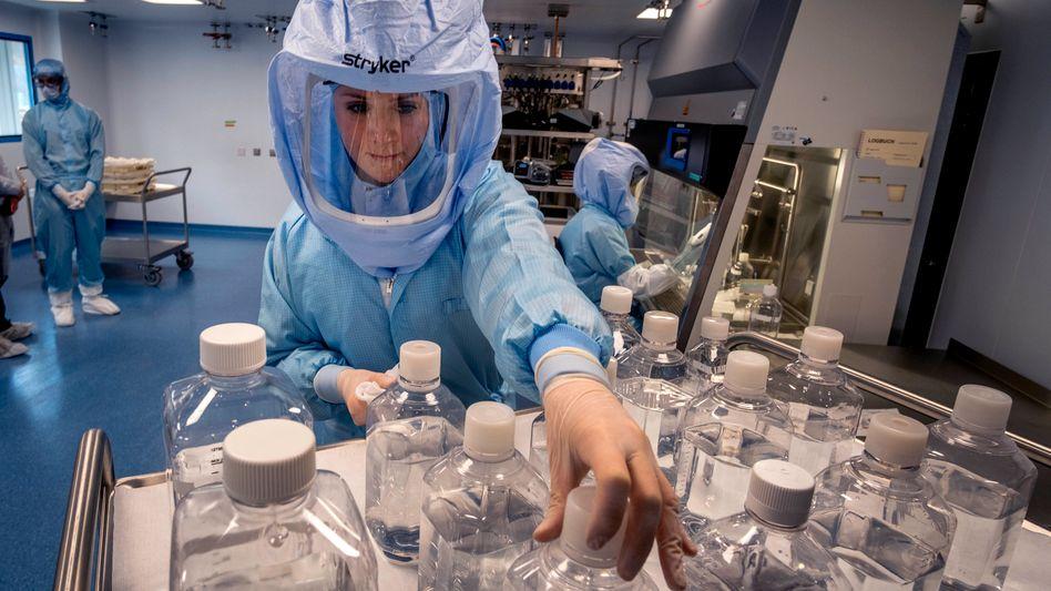 Aufwändige Forschung: Impfstoff-Reinraumlabor von Biontech in Marburg