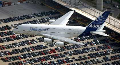 Europäisches Gemeinschaftsprojekt:A380 in Hamburg-Finkenwerder